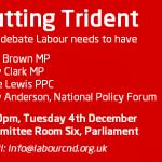 Public meeting: Cutting Trident